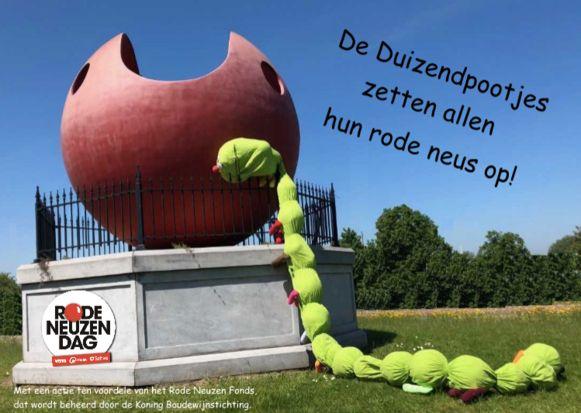De Duizendpootjes doet mee met Rode Neuzen Dag.