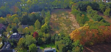 Achtertuin Pieter van den Hoogenband in Waalre verwoest