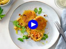 Un lunch gourmand et sain? Ces galettes de couscous et leur sauce à l'avocat sont phénoménales