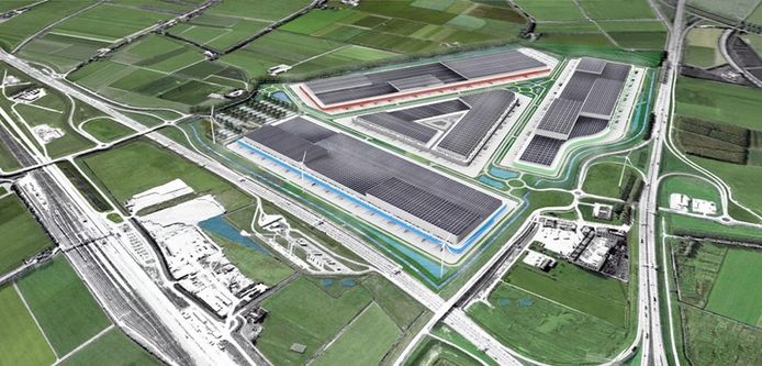 Zo zou het Logistiek Park Moerdijk eruit kunnen komen te zien.