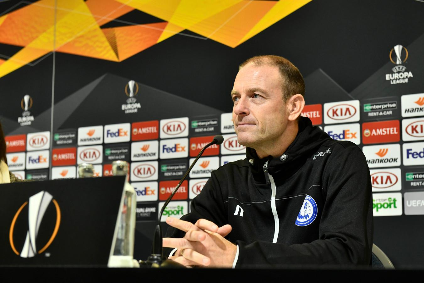 Jess Thorup est apparu confiant en conférence de presse à la veille du match retour contre la Roma en Euopa League.
