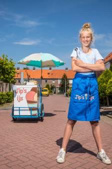 Dat is nog eens een zomerbaan: Jipke begint met eigen ijsco-kar