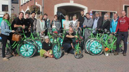 Groen voert campagne met groene fietsen