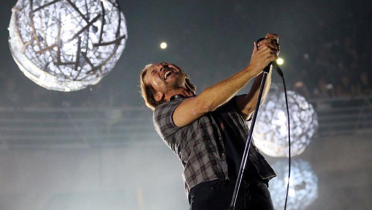 Pearl Jam treedt op in Chili (13 maart 2018). Beeld epa