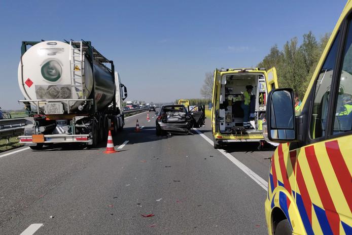 Ongelukken op A59 bij Waspik