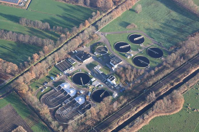 De rioolwaterzuivering aan de Oisterwijksedreef in Haaren.