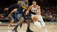 Denver wint nipt van Portland in NBA, Houston knoopt weer aan met de zege