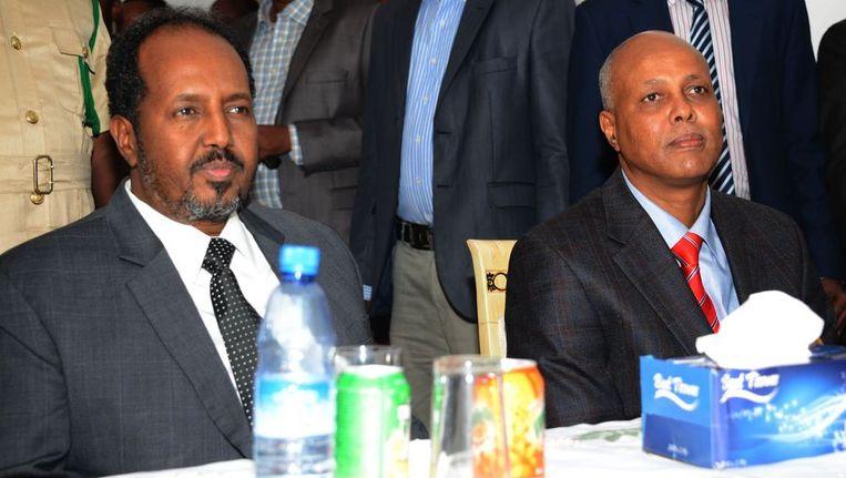 Sjeik Abdiwali Ahmed (rechts). Beeld afp
