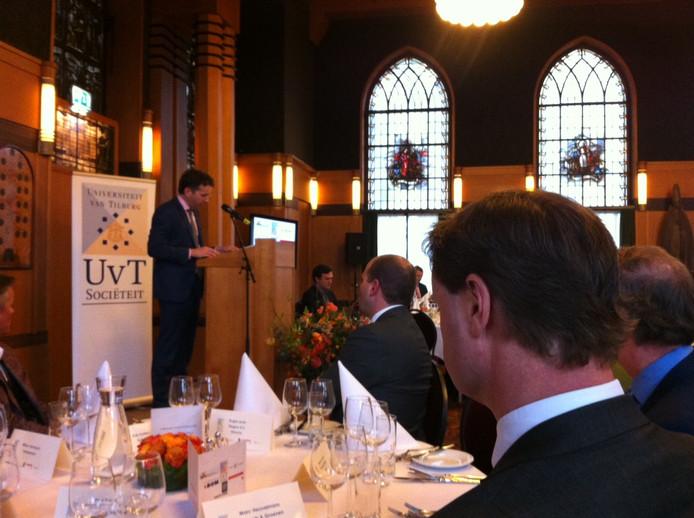 Jeroen Dijsselbloem spreekt op Cobbenhagen Summit in Tilburg.