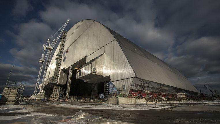 De sarcofaag voor de reactor in Tsjernobyl is bijna klaar