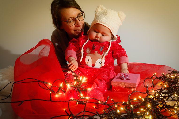 Baby Pia en mama Ellen De Meyer.