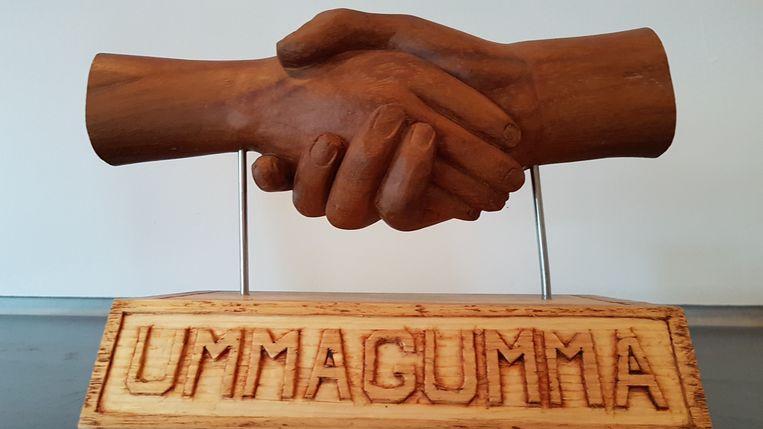 Het beeldje dat Jan van Doorslaer maakte voor Ummagumma.