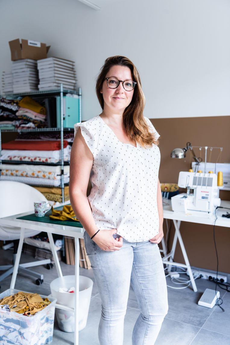 Priscilla Farla-Pille, maker van kinderkleding. Beeld null