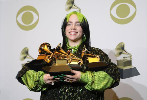 Billie Eilish is de grote winnares van de Grammy Awards 2020