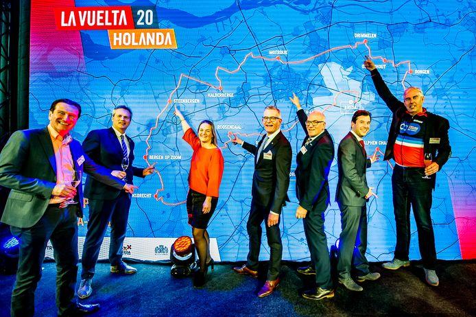 Begin vorig jaar presenteerden de West-Brabantse doorkomstgemeenten van de Vuelta 2020 zich, toen nog onwetend over het naderende onheil.