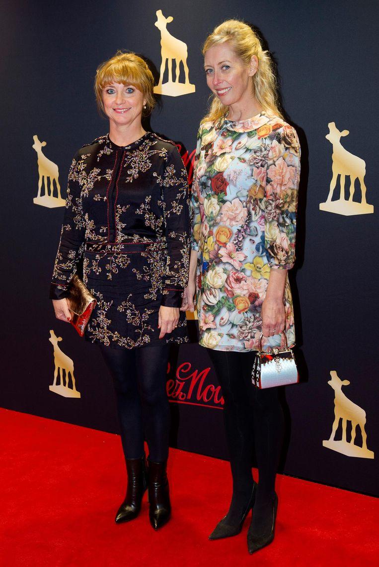 Plien van Bennekom (R) en Bianca Krijgsman bij het Nederlands Film Festival in 2013. Beeld anp