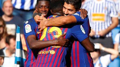 Barcelona komt met de schrik vrij bij Real Sociedad, Vermaelen zat voor het eerst weer in wedstrijdselectie