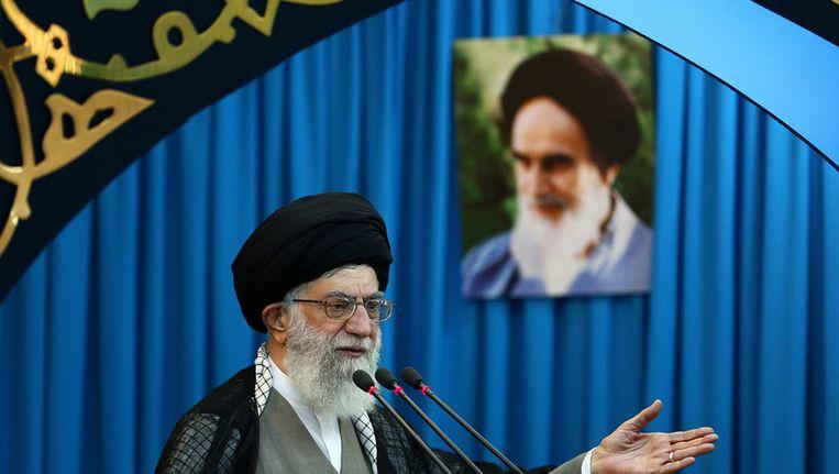 Ayatollah Ali Khamenei Beeld afp