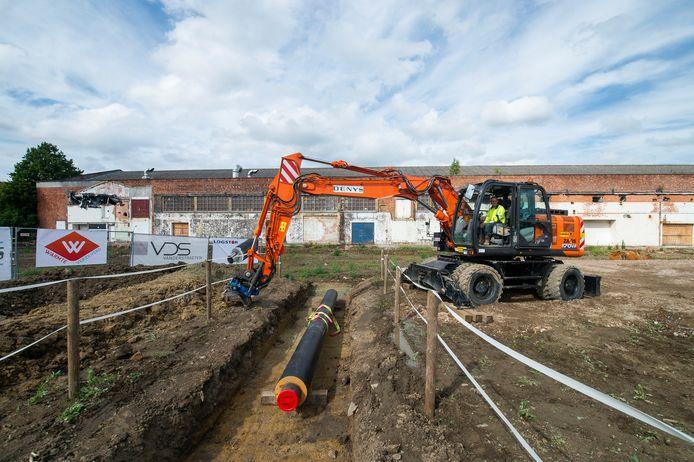 Begin juli begonnen de werken aan het warmtenet op de site Minerve.