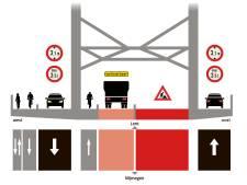 Waalbrug ook donderdagnacht afgesloten
