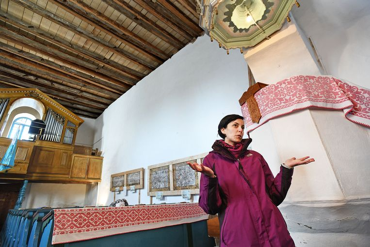 Timea Nagy-Mátefi, de dominee van Énlaka. Foto Guus Dubbelman / de Volkskrant Beeld null