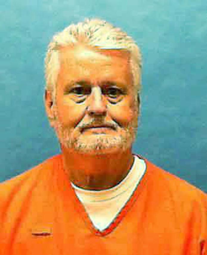 De ter dood gebrachte Bobby Joe Long tijdens zijn gevangenschap.