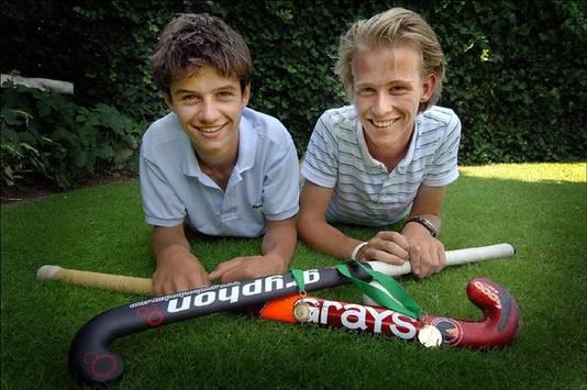 Robbert Kemperman en Philip Thiadens wonnen samen met Nederlands B goud op het EK in Dublin. Beeld uit 2006.