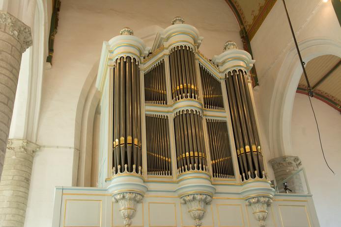 Het orgel in de Hervormde Kerk in Kapelle.