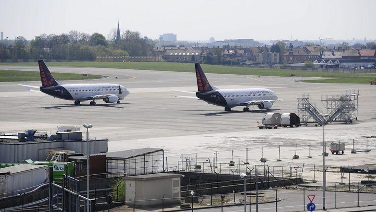 Twee toestellen van Brussels Airlines op het tarmac van Brussels Airport.