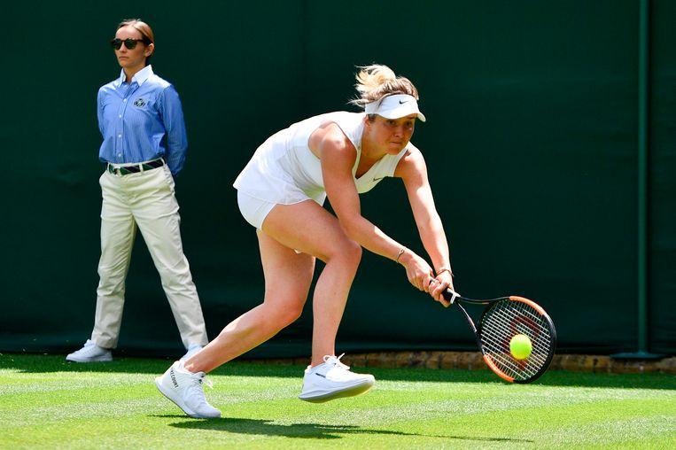 Svitolina, gisteren in actie op Wimbledon.