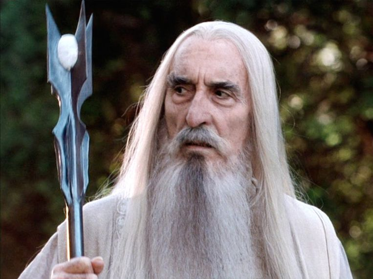 Christopher Lee als Saruman in 'Lord of the Rings'.