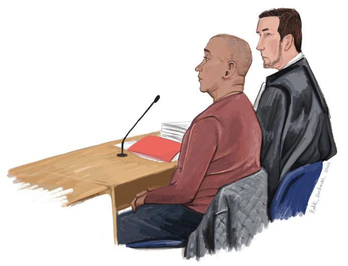 Jerry M. in de rechtbank.