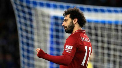 Mo Salah matchwinnaar voor Reds vanop de stip tegen stug Brighton