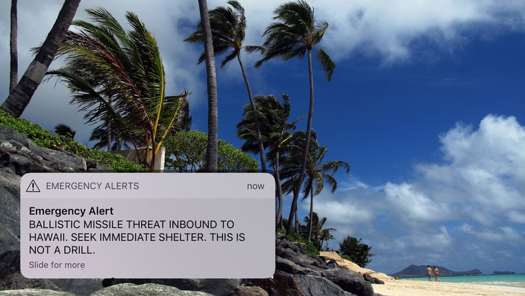 Het bericht werd verstuurd naar iedereen die zich op Hawaï bevond.