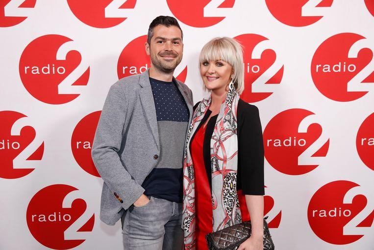 Eveline Cannoot met haar partner Stijn tijdens de Eregalerij van Radio 2.