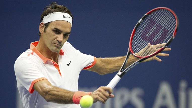 Roger Federer tijdens de US Open Beeld reuters