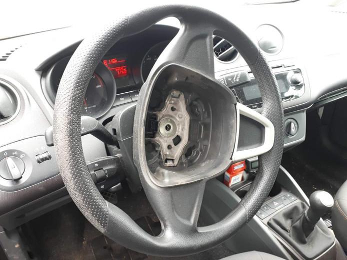 Archieffoto van een gestolen airbag.