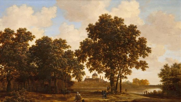 'Het Haagse Bos met gezicht op Paleis Huis ten Bosch' van Joris van der Haagen