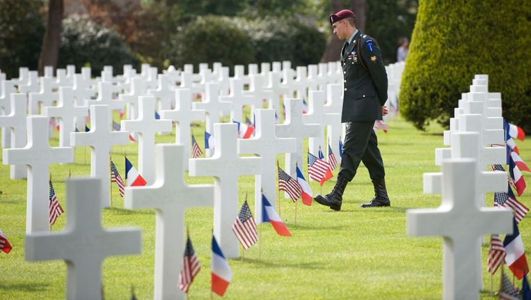 De Amerikaanse begraafplaats in Colleville-sur-Mer. Beeld afp