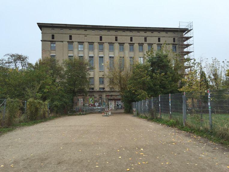 De legendarische techno-club Berghain in de wijk Friedrichshain-Kreuzberg in Berlijn.