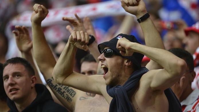 Supporters van Kroatië.