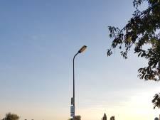 Lantaarnpaal in Wilsum na drie weken  gerepareerd