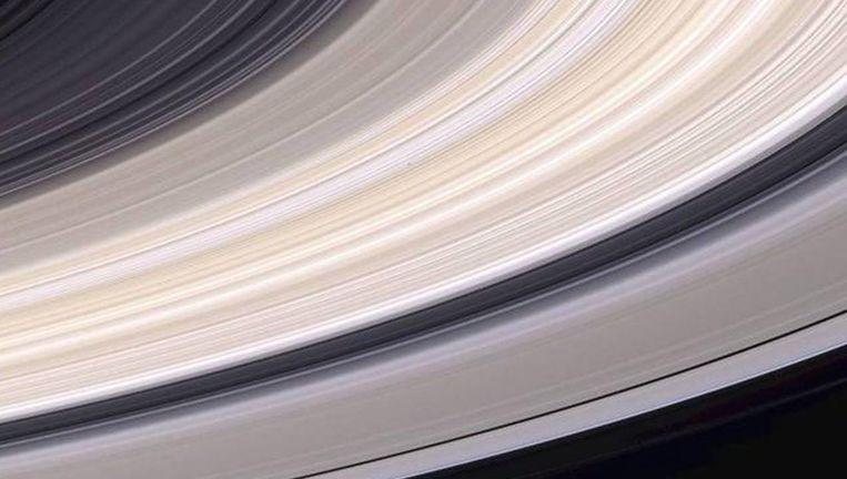 De ringen van Saturnus, bestaande uit gruis en ijs. Beeld Theo Audena