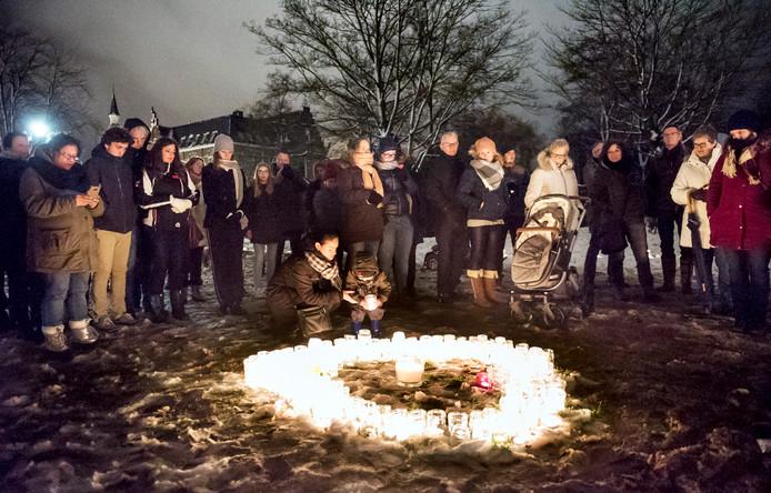 Vorig jaar in Woerden, bijeenkomst met muziek en toespraken in het Westdampark
