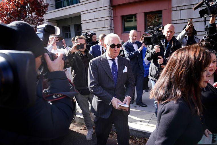 Roger Stone bij de rechtbank in november 2019.