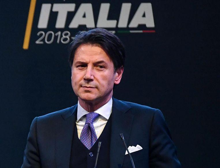 De Italiaanse kandidaat-premier: Giuseppe Conte. Beeld null