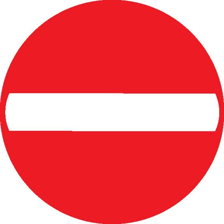 Verkeersbord eenrichtingsstraat (C1).