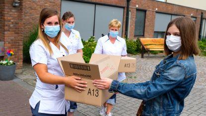 PVDA Niel schenkt 500 chirurgische mondmaskers aan WZC Maria Boodschap