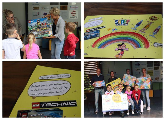 Stichting Kinderlach Twente had een verrassing voor de kinderafdeling van het MST. En dat werd gewaardeerd.