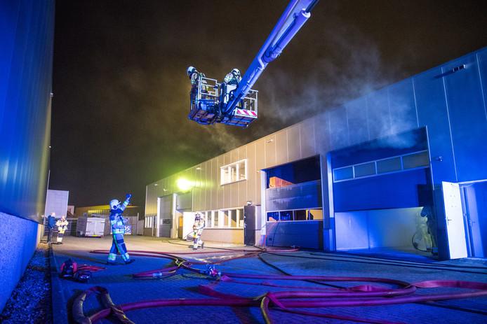 De brand vond plaats op de Kleiland in IJsselmuiden